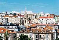 Panoramic view of Santander a sunny day of summer.