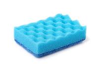 Blue dish washing sponge