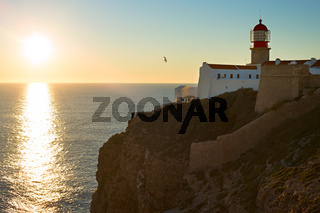 Algarve lighthouse, Portugal