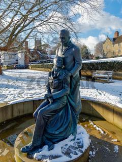 EAST GRINSTEAD, WEST SUSSEX/UK - FEBRUARY 27 : McIndoe Memorial in East Grinstead on February 27, 2018