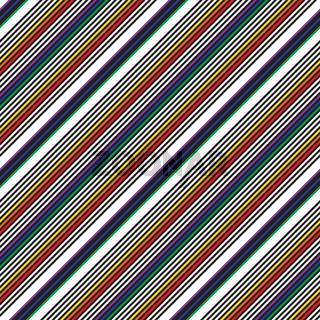 Rainbow Stripe seamless pattern background in diagonal style