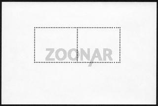Blank postage stamp block