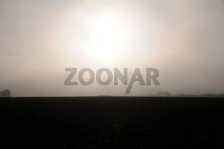 Landschaft im Nebel, Landscape in fog