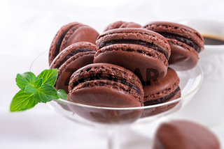 chocolate macarons with cardamom