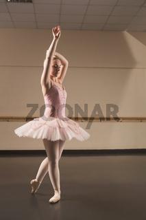 Beautiful ballerina dancing en pointe