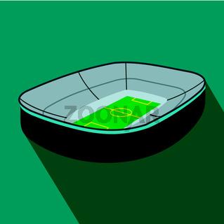 Oval footbal stadium flat icon