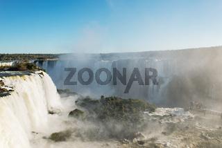 Great Iguacu Waterfalls view from Brazil side