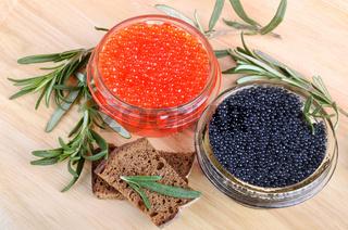 Caviar with bread