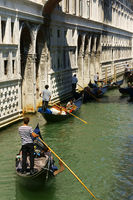 Bridge of Sighs and gondolas