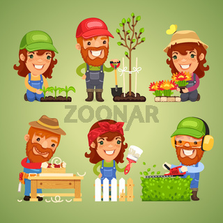 Farmers at Spring Work Set