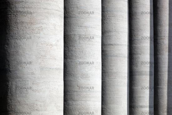 St. Peter#39;s Basilica colonnades, columns in Vatican City.