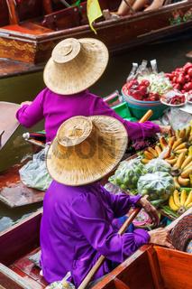 schwimmender Markt Damnoen Saduak in Bangkok, Thailand