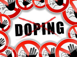 no doping abstract concept