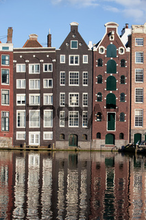Houses on Canal in Amsterdam Netherland