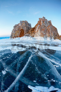 Shamanka mount on Baikal lake