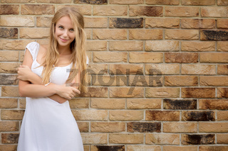 smiling blond