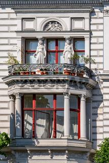 Klassizistischer Fassadednschmuck am ehemaligen Wohnhaus des Berliner Baumeisters Wilhelm Riehmer