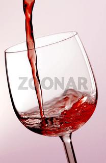 Getraenk im Weinglas