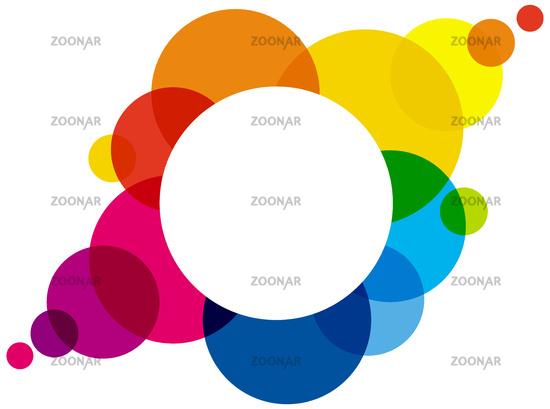 Regenbogen Farben Kreise