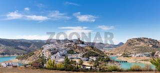 Hilltop town of Iznajar in Andalucia