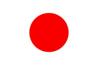 Vector of offficial flag of Japan country