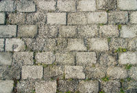 Old Traditional Cobblestone Road Background Texture