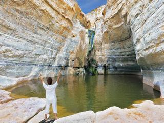 Yoga classes in the gorge Ein-Avdat
