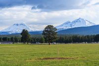 Country side view and farm land at Oregon USA