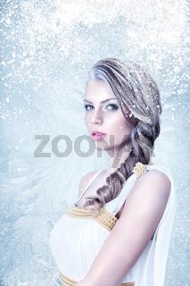 Frozen beautiful girl