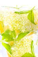 Elderberry flower drink with  lemon