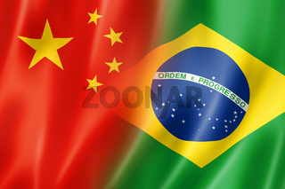China and Brazil flag