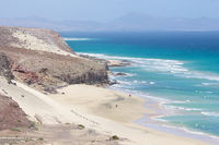 Mal Nombre beach on the south east coast of Fuerteventura