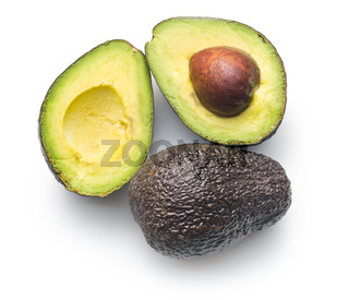 halved avocado