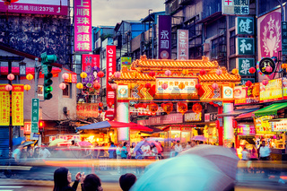 Night market in Taipei- Taiwan