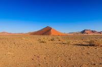 Big red sand dune landscape desert Sossusvlei