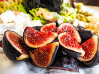 Delicious figs in fruit salad