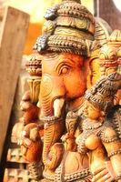 Lord Ganesha statue with goddess Ridhi Siddhi, pray concept