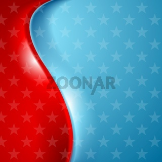 Abstract wavy usa stars background