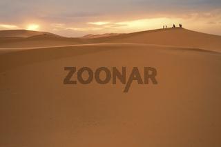 Sunset Sahara Desert, Morocco