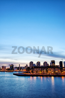Rotterdam Skyline at Twilight