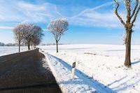 Straße, Winter, Deutschland