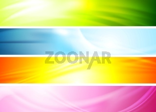 Smooth wavy abstract colorful banners