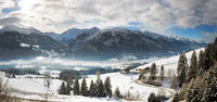 Panoramic view in Tyrol with Grossglockner, Austria