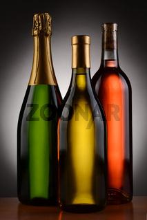 Champagne Chardonnay and Blush Wine Bottles