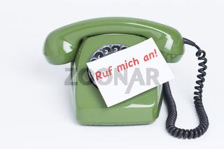 Telefon mit Nachricht