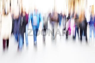 Menschen in der Stadt in Bewegung