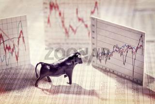 Steigende Kurse an der Börse