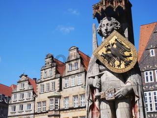 Bremen - Rolandstatue auf dem Marktplatz