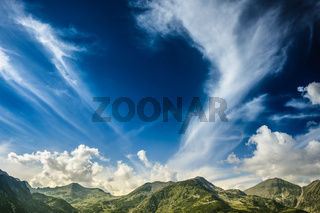 Landscape of Retezat Mountains, Romania, Europe