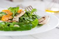 Sommer salad with rocket salad